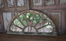 Mirror made from old colonial doorway decorations, South India